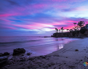 Laguna Beach Sunset Ocean Photo Print Metal Canvas Fine Art Paper