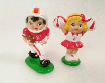 Vintage 1985 Campbell's Soup Football Kids Figurines
