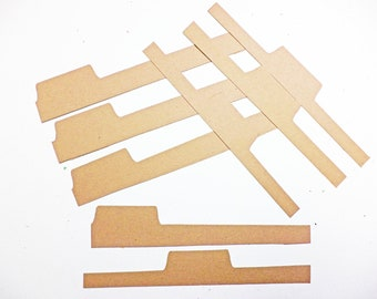 Tim Holtz On The Edge File Tabs Set of 2 That Makes a Total of 8 Tabs