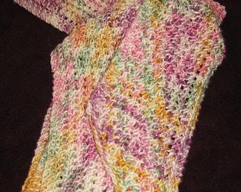 Silk Scarf - Summer Flower Colorway