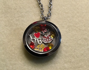 Minnie Mouse Floating Charm Necklace - 30mm