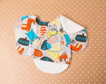 Monsters Colorful Baby boy Newborn Baby gift set Bib Burp cloth Flannel Chenille Little Tommys Snaps New parent Soft Absorbent Dinosaurs