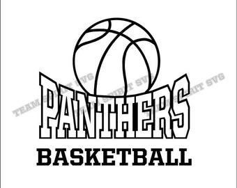 Panthers Basketball Download Files - SVG, DXF, EPS, Silhouette Studio, Vinyl Cut Files, Digital Cut Files -Use with Cricut and Silhouette
