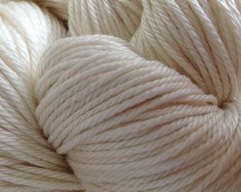 Mercerized Pima Cotton Yarn, Knitting, Weaving, Crochet, Natural White