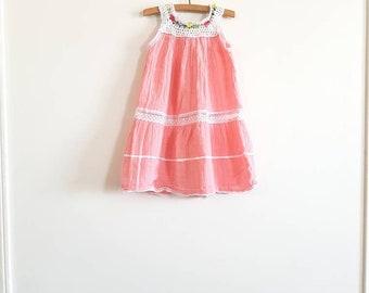 Vintage Toddler Girl's Pink Sundress