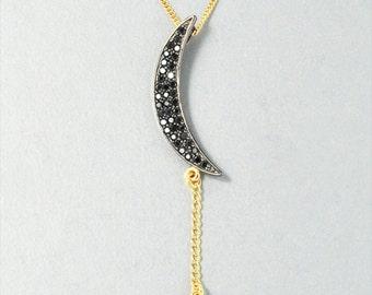 Magic Moon w/ Star Dangle Necklace