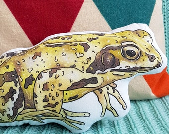 Frog Gift - Animal Cushion - Nature Lover Gift - Frog Cushion - Animal Shaped Cushion - Woodland Cushion - Animal Pillow - Frog Print - Gift
