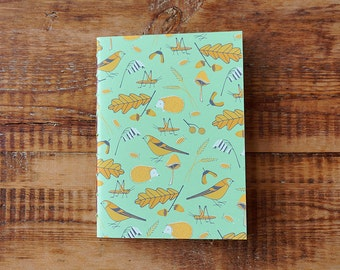 Autumn A5 Dot Paper | Sketchbook | Notebook | Screen Printed | Handmade