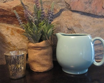 Small Aqua Pitcher