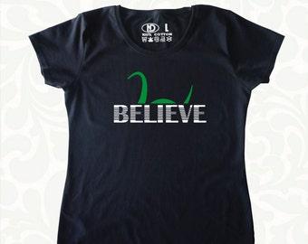 Believe Loch Ness Monster Nessie Mens Womens T Shirt