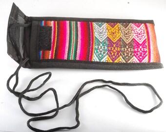 Manta Eye Glass Case Bag From Peru Free Trade OOAK Handmade New #1