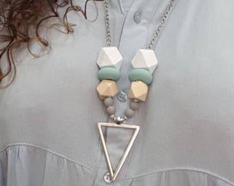 Beaded necklace, handmade beaded necklace, Polymer beaded necklace, Beaded jewelry, Nice gift