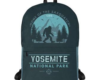 Backpack Women, Mini Backpack, Backpack Men, Camper, Laptop Backpack, National Park, Sasquatch, Bigfoot, Yosemite, California, Backpack