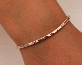 Hammered Cuff Bracelet, 14K Rose Gold Filled (351.rgf)