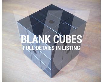 Puzzle Cubes (Black) - BLANK - Custom DIY
