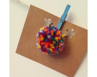 Handmade Pom Pom Rings