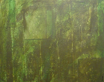 Original Abstract Green Painting 30 x 24 - Green Mono 001 - Contemporary Abstract Wall Art and Modern Acrylic Painting on Canvas