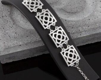 4 pieces bracelet Barcelona Art Nouveau flower