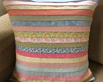 Large Pleated Calico Pillowcover