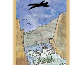 Flight, a collage greeting card