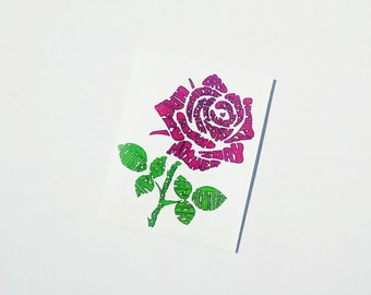 Handmade Word Art of a Rose - Perfect Mother's Day Card or Framed Print
