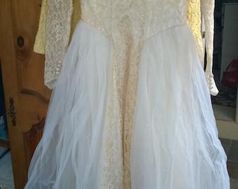 Vintage Wedding dress 1940's