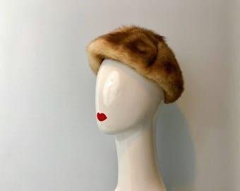 True Fur Hat Honey Mink
