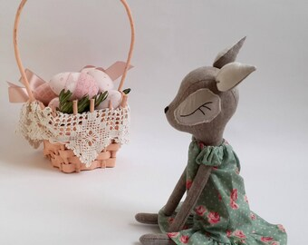 Unique easter gift etsy woodland animal easter gift baby girl baby plush animal unique toy gift woodland stuffed toy plush negle Gallery