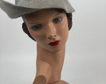 1930s gray fur hat