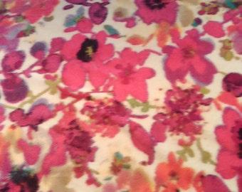 SALE***Floral Watercolor Fleece Blanket