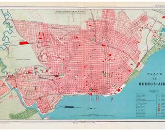 Plano De Buenos Aires, Antique Map, 1888