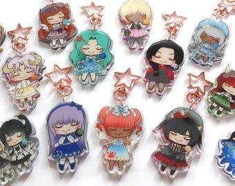 "2"" Lolita Horoscope Zodiac Star Sign Keychain"