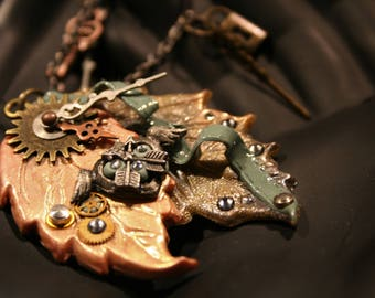 Time Heals All Steampunk Necklace