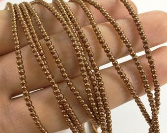 2mm Bronze Hematite Beads,Round Beads,Hematite Jewelry