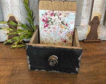 Address Box, Wedding Guest Book, Guest Book Alternative, Address Cards, Vintage, Floral, Pink, Blue