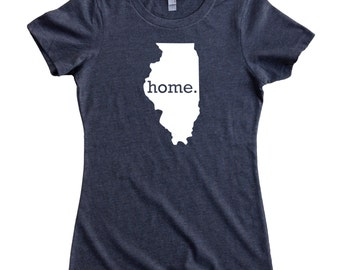 Homeland Tees Illinois Home State Women's T-Shirt