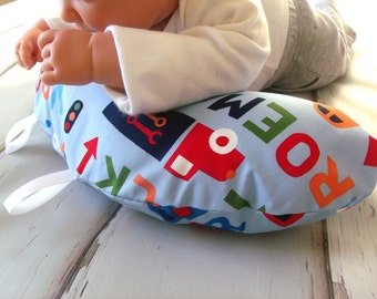 Organic Tummy Time Pillow, Vroom Vroom