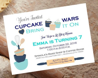 Cupcake Wars Party Etsy