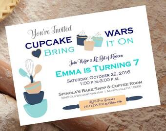 Digital CupCake Wars Birthday Party