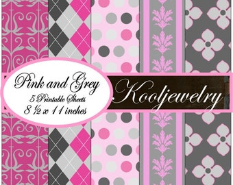 Pink and gray paper pack - No.16