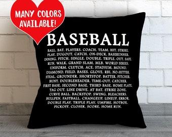Baseball Throw Pillow, Baseball Pillow, Baseball Throw Pillow, Baseball Print, Baseball Quote, Boys Room Baseball, Baseball Theme, Baseball