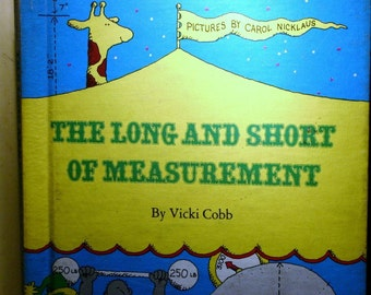 Set Vintage Childrens Books Measurement Numbers Math Science Former School Library Educational Fu Learning for Kids Clowns Circus Metric