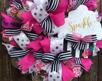 Everyday Wreath, Birthday wreath, Festive Wreath, Cupcake Wreath