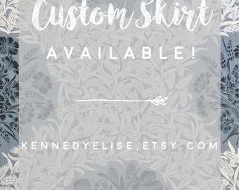 REDUCED 50s Style Modest Retro Full Gathered Skirt | Midi Floral Custom Skirt | JW Fashion Bouquet Skirt | Plus Size Full Midi Skirt