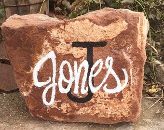 Last name | personalized rock | painted rock | unique gift