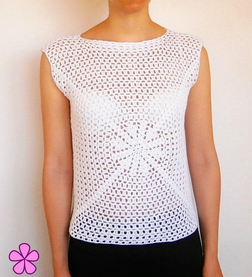 Crochet T-shirt pattern. Easy level crochet pattern. Granny Square ...