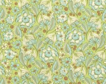 Tula Pink Chipper, Wild Vines Mint cotton fabric