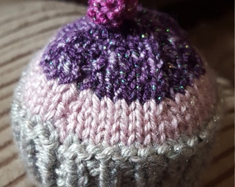 Purple Sparkle Cupcake