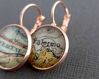 Personalized Earrings for Ben - Brighton, UK and Krakow, Poland