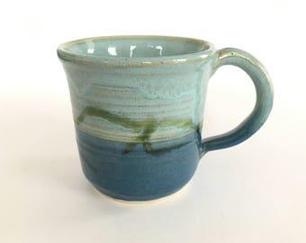 Ceramic Coffee Mug-Aqua and Blue Coffee Mug